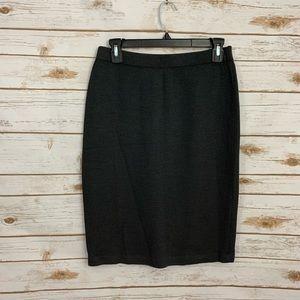 St John Black Santana Knit Pull On Pencil Skirt